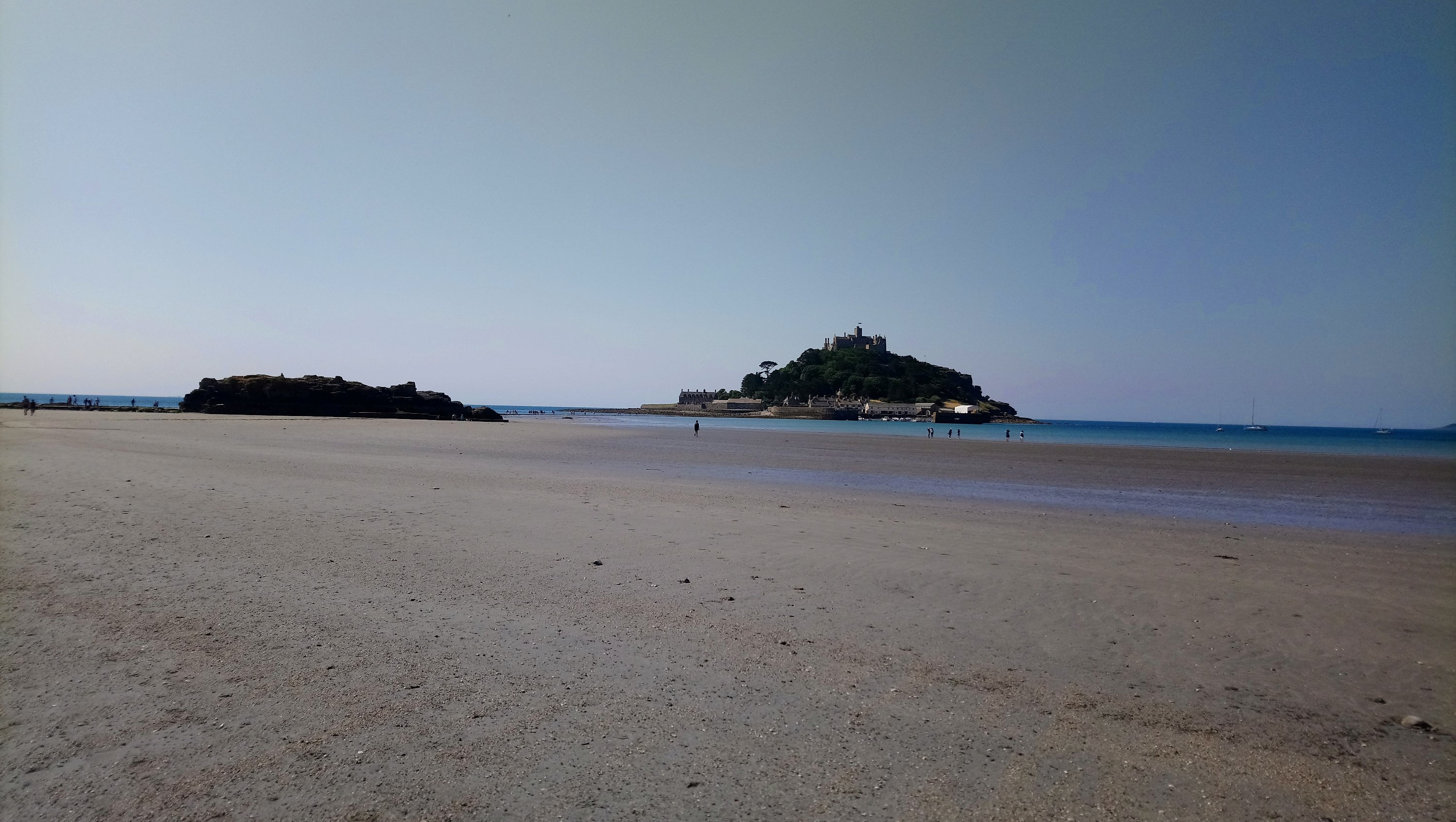 View of St.Michael's Mount from the beach