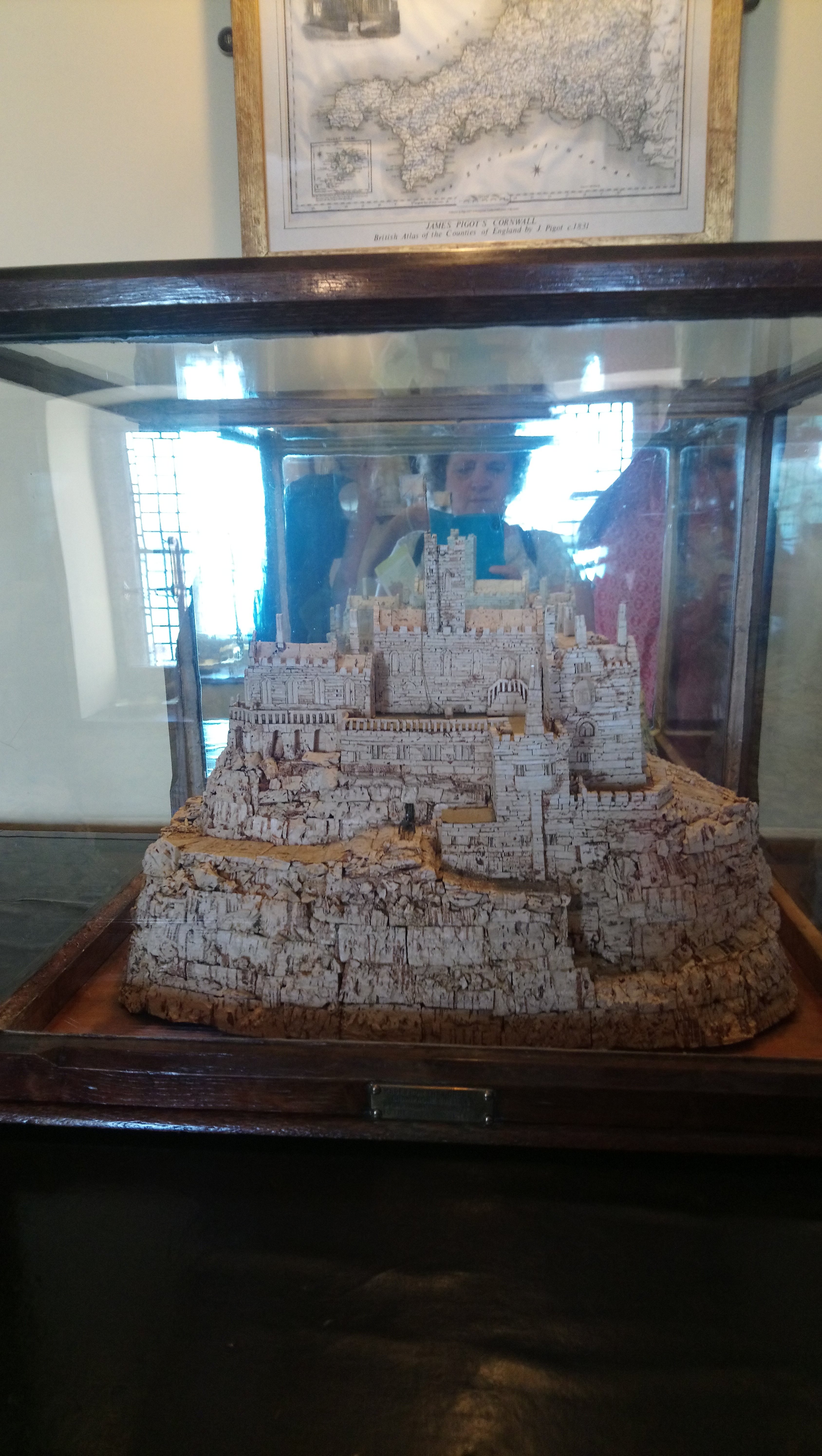 St.Michael's Mount model made of wine corks