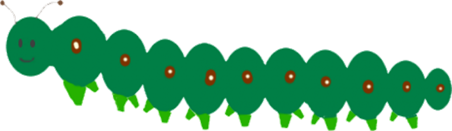 Green Caterpillar illustration