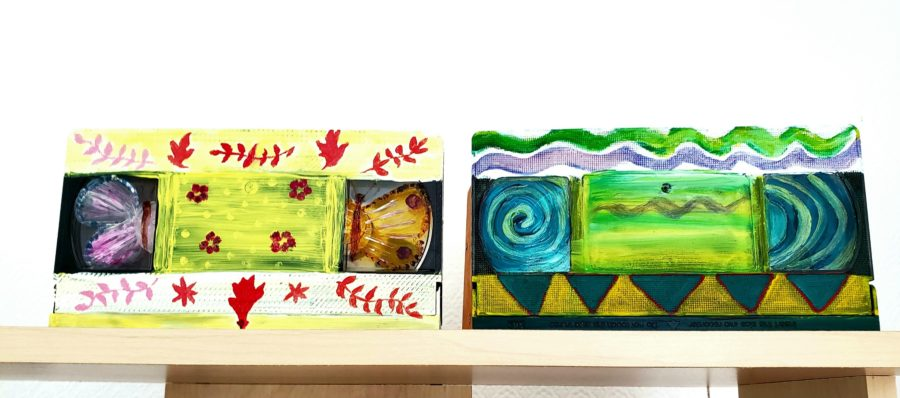 New art project of paintings on video cassettes